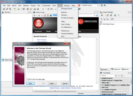 Screenshot of Direct Oracle Access