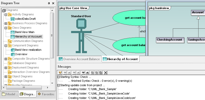 <strong>UModel</strong><br /><em><p>UModel combines a rich visual interface with superior usability features to help level the UML learning curve, yet it also includes high-end functionality to empower users with the most compelling advantages of UML software development.</p>