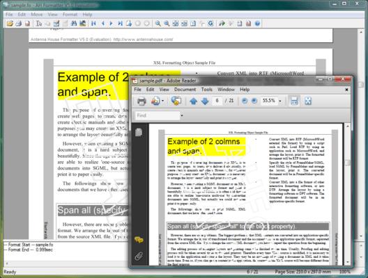 Screenshot of AH Formatter V5.x Lite