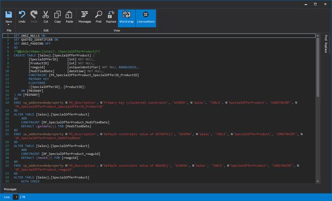 ApexSQL Analyze - Show SQL object scripts