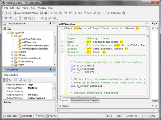 Customize file output