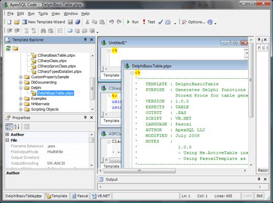 ApexSQL Code can create web forms
