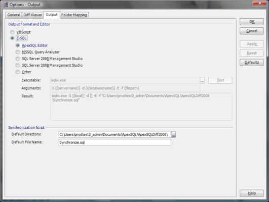 Screenshot of ApexSQL Diff Pro