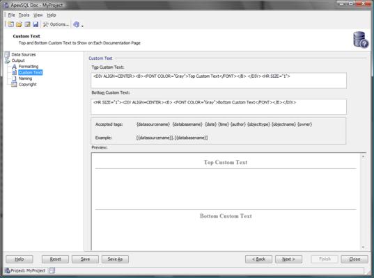 Documentation format