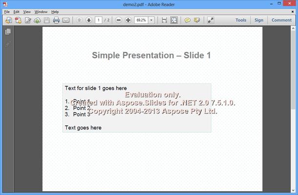 Online PPT to PDF converter (requires Aspose.PDF)