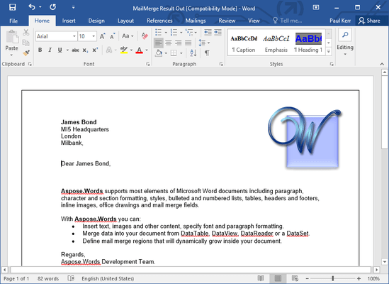 how to merge pdf and word