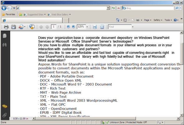 PDF - Adobe Portable Document