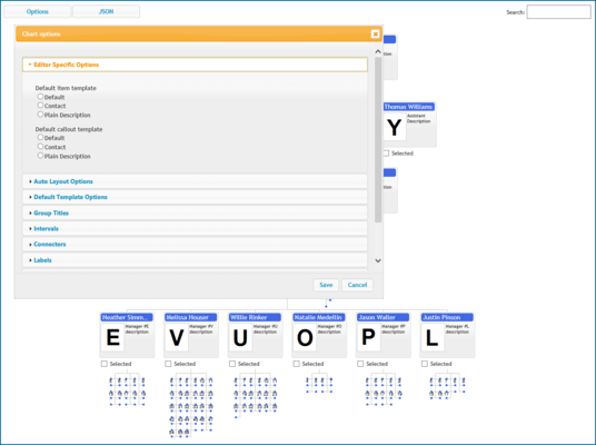 Organizational Chart Editor