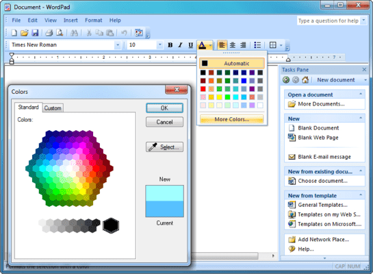 Word-style GUI