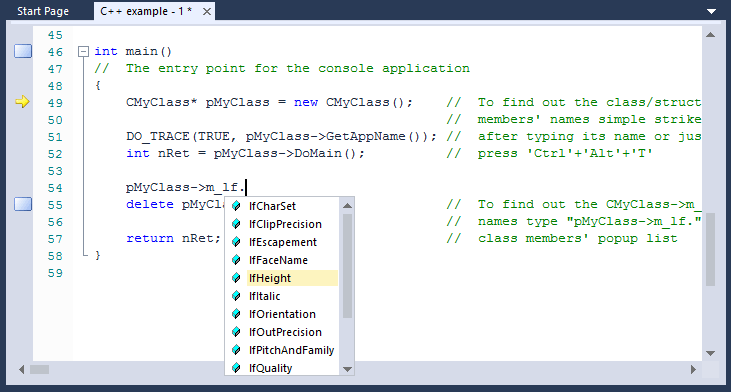 IntelliSense Support
