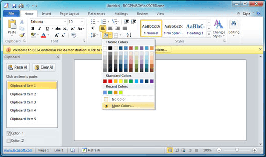 <strong>Office 2010 Silver Theme</strong><br /><br />