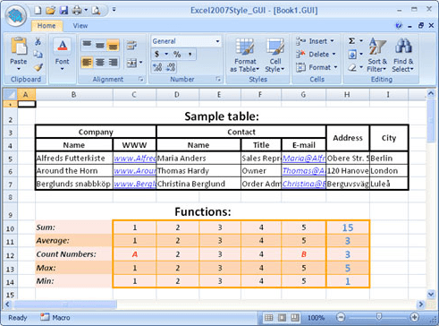 <strong>Excel 2007 Style Grid</strong><br /><br />