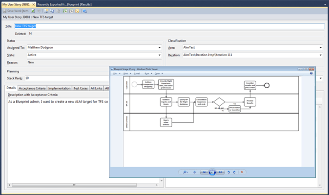 Blueprint features integrate with microsoft tfsrequirements developed using blueprint are the basis or input for work done by malvernweather Image collections