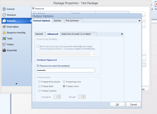 Set output format options.