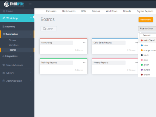 Categorize your Gizmos using Boards