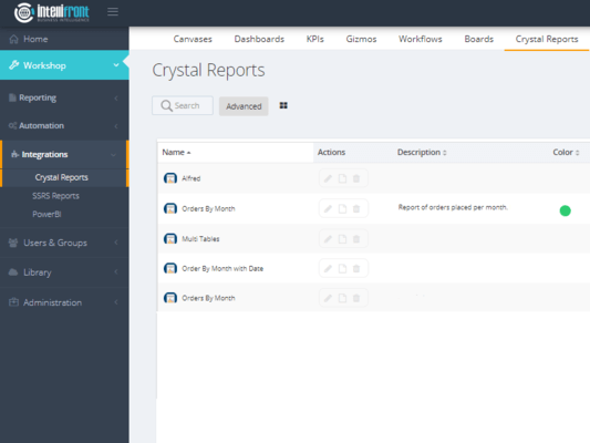On demand Crystal Reports