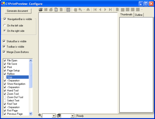 ComponentOne Preview for WinForms Screenshots