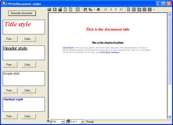 Document Styles