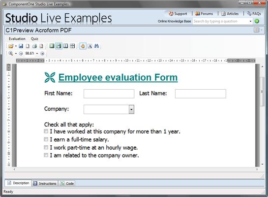 ComponentOne PDF for WinForms