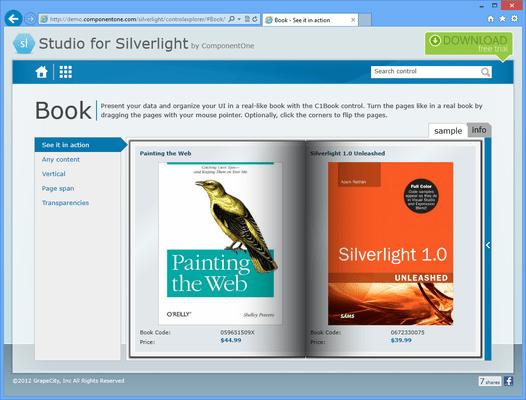 ComponentOne Book for Silverlight
