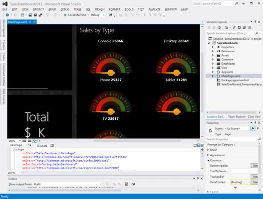 Screenshot of ComponentOne Studio for WinRT XAML