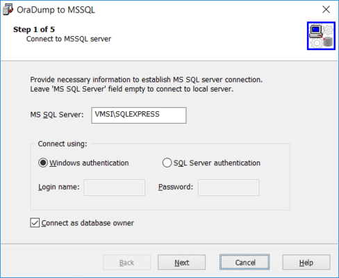 Connect to Microsoft SQL Server.