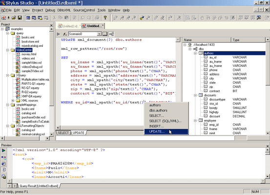 Database-to-XML Mapper