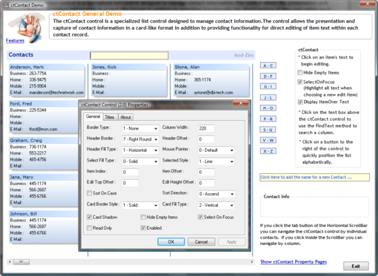 Studio Controls for COM (英語版) のスクリーンショット