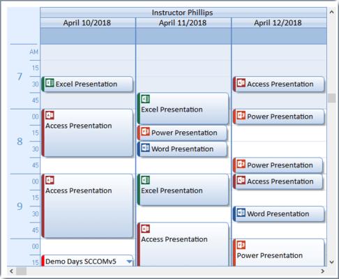 Calendar Multi-Column View