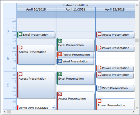 Calendar Multi-Column View