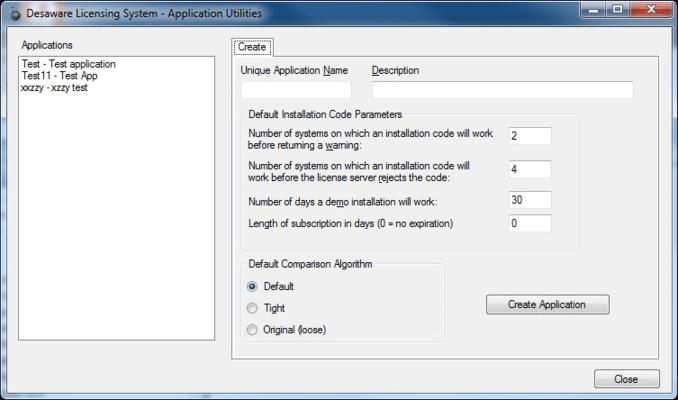 Application Select