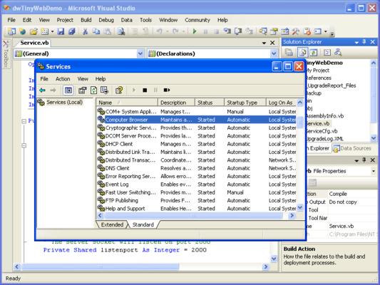 NT Service Toolkit .NET