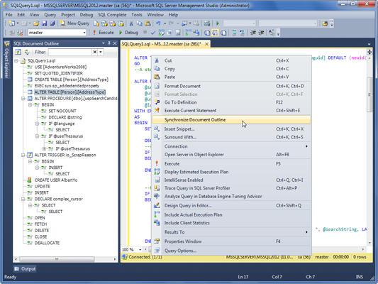 Synchronize SQL