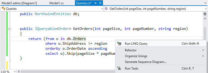 <strong>Executing LINQ Query</strong><br /><br />