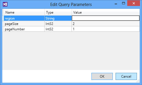 Edit Parameters Window
