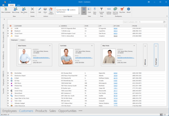 DevExpress WinForms Grid Master-detail