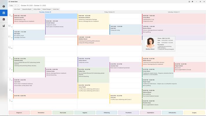 DevExpress WinForms Calendar View