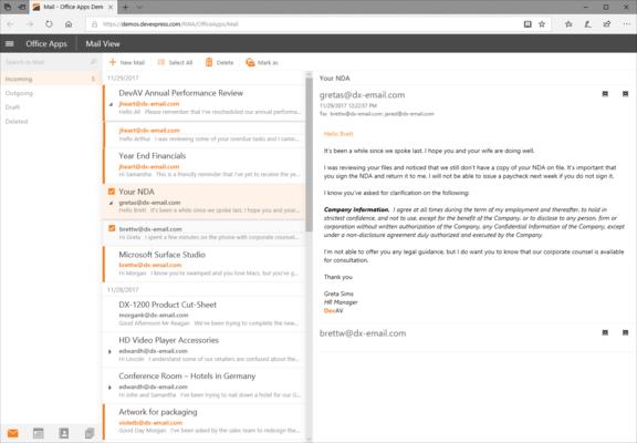 ASP.NET Mail Client