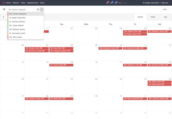 ASP.NET Core Calendar