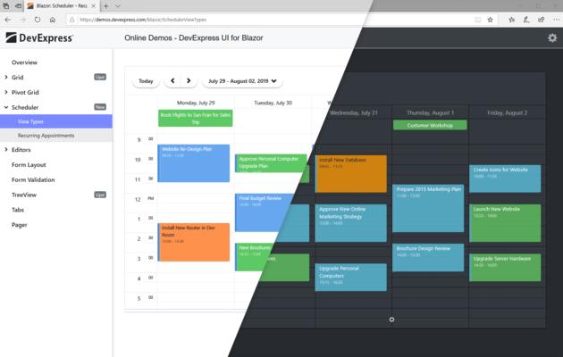 Blazor Scheduler Themes