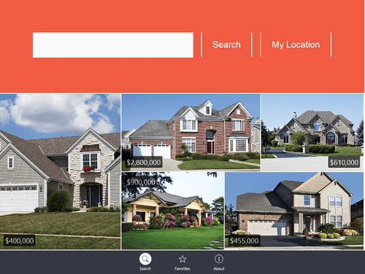 DevExtreme Mobile Realtor World Search
