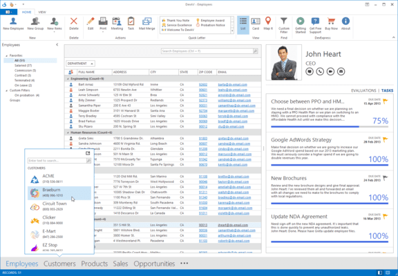 WinForms Outlook Inspired Apps