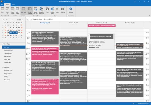 WinForms Scheduler