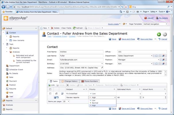 ASP.NET XAF Application