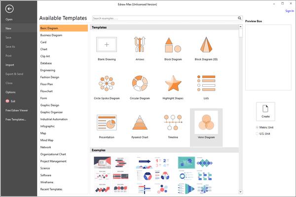 EdrawMax - Basic Diagram Templates