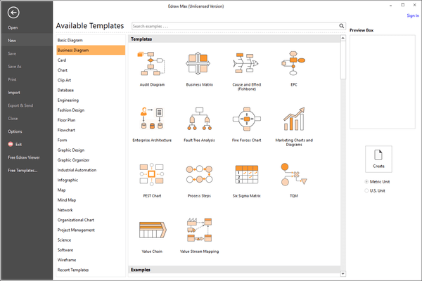 Edraw Max - Business Diagram Templates