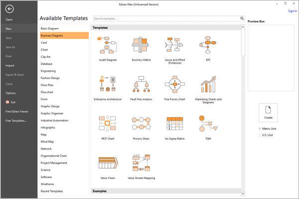 EdrawMax - Business Diagram Templates