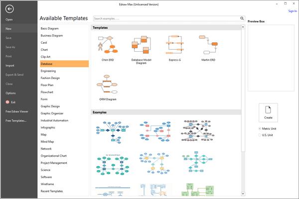 EdrawMax - Database Templates