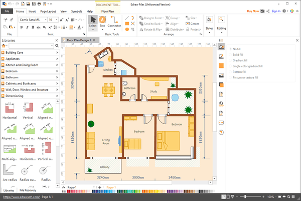 EdrawMax - Floor Plan Sample