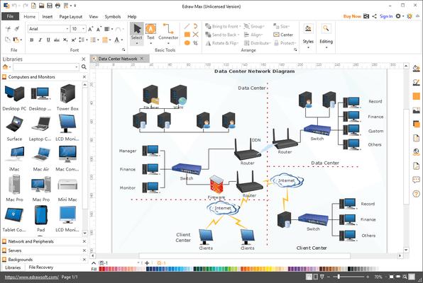 Edraw Max - Network Sample